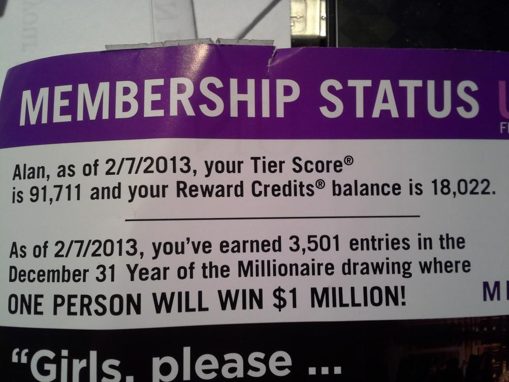 Is this a glitch for the Harrah's Rincon Million Dollar Contest?